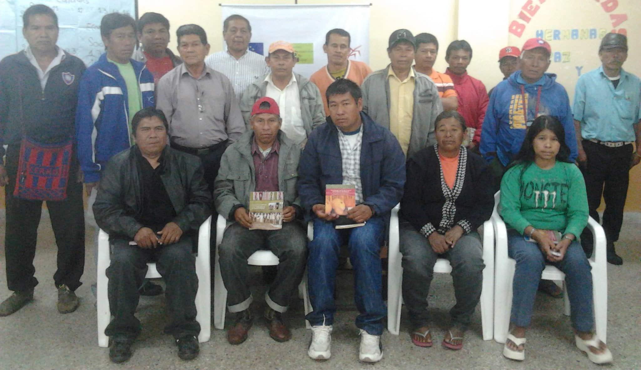 Miembros de la FAPI, en el cierre del taller de aplicación de la Declaración de la ONU sobre los Derechos de los Pueblos Indígenas.