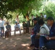 Reunión con el presidente del INDI, tras el aseguramiento de 498 ha, adquiridas en «Restitución de Tierras al Pueblo Mby'a Guaraní»