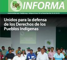"""""""FAPI Informa"""", una revista que publica las acciones y luchas de las doce asociaciones indígenas que conforman la organización"""