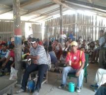 Miembros de la Asociación Asadec participaron del taller de Sistema de Alerta Temprana (SAT) en la comunidad La Leona, Chaco