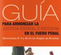 Material de apoyo (para descargar) para operadores judiciales: «Guía para armonizar la justicia estatal e indígena en el fuero penal»