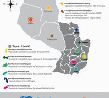 Mapa de las organizaciones miembros de la FAPI