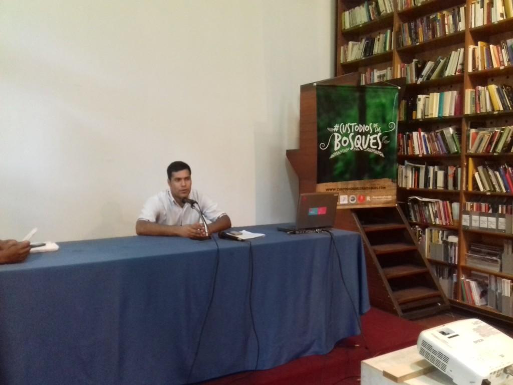 Tagüide Picanerai, representante de la organización de los Ayoreos Totobiegosode OPIT, la cual es miembro de la FAPI.