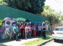 Dirigentes indígenas visitan el mural #CustodiosdelosBosques