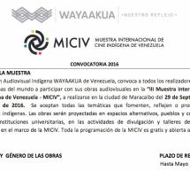 """""""III Muestra Internacional de Cine Indígena de Venezuela – MICIV"""": Convocatoria para realizadores indígenas"""