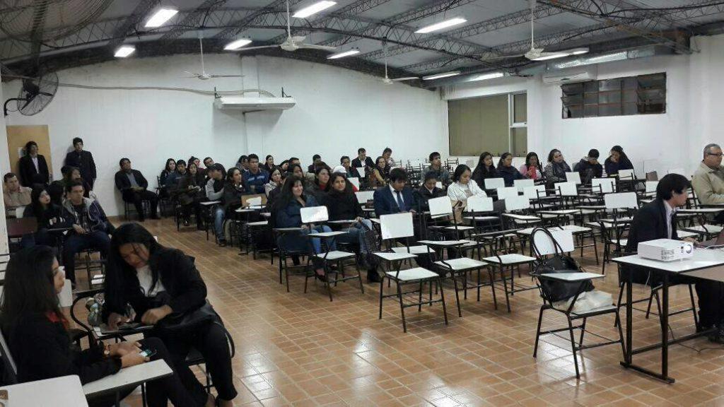 Charla con estudiantes de la UPAP.