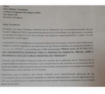 Presidentes de las organizaciones indígenas de la FAPI expresan desacuerdo con propuesta paralela del INDI sobre CLPI