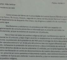 """Líderes Guaraní Ñandeva rechazan propuesta sobre CLPI presentada por el INDI por """"desconocer derechos de los Pueblos Indígenas"""""""