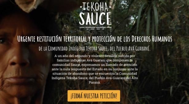 Campaña de apoyo a la restitución territorial de la comunidad Sauce