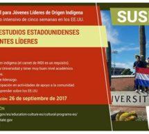 Convocatoria para jóvenes indígenas que quieran participar de un intercambio cultural en Estados Unidos