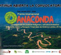 Premio Anaconda: Se amplia el plazo para la presentación de obras audiovisuales