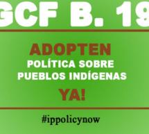 Indígenas urgen al Fondo Verde para el Clima adoptar una política de protección para sus comunidades