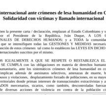La FAPI junto a otras organizaciones de Lationamérica hicieron un llamado urgente ante los crimenes de lesa humanidad en Colombia
