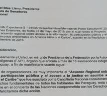 La FAPI solicita a Senadores tratar sobre Acuerdo de Escazú