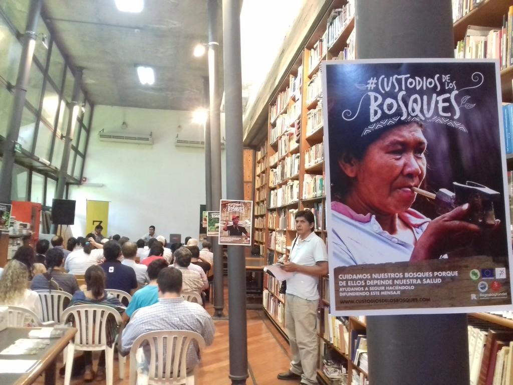 En la biblioteca del Centro Cultural Juan de Salazar se realizó este jueves el lanzamiento de la campaña #CustodiosdelosBosques.